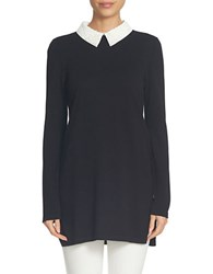 Cece Long Sleeve Collared Tunic Rich Black