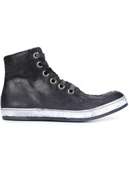A Diciannoveventitre Hi Top Lace Up Sneakers Black