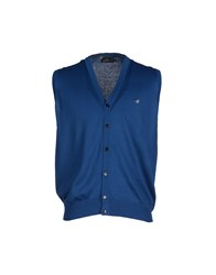 Brooksfield Knitwear Cardigans Men Blue