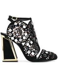 Kat Maconie Frida Embellished Sandals Black