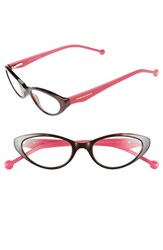 Women's Jonathan Adler '801' 50Mm Cat Eye Reading Glasses Tortoise