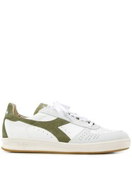 Diadora Logo Embroidered Sneakers White