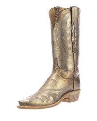 Lucchese Lily Metallic Western Boots Tan