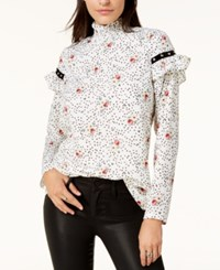 By Glamorous Studded Mock Neck Blouse Created For Macy's White