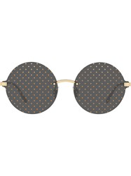 Dolce And Gabbana Eyewear Dotted Sunglasses Gold