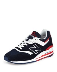 New Balance Men's 997 Explore By Air Colorblock Sneakers Navy Red Navy Red