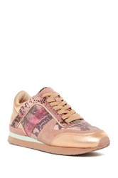 Liebeskind Metallic Snake Print Retro Athletic Sneaker Pink