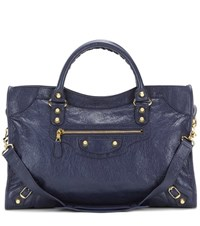 Balenciaga Giant 12 City Leather Tote Blue