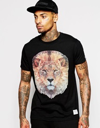 Supreme Being Supremebeing T Shirt With Geo Lion Print Black