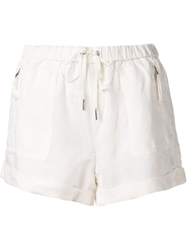 Joie Drawstring Waist Shorts White
