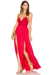 The Jetset Diaries Private Beach Maxi Dress Red