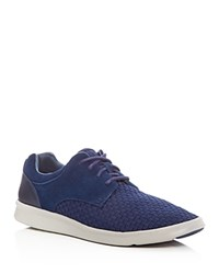 Ugg Hepner Woven Lace Up Sneakers Navy