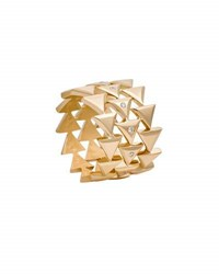 Misahara Unity Eternal Stacked Triangle Ring With Diamonds