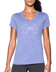 Under Armour Heathered V Neck Tee Violet