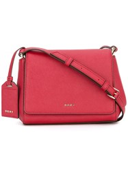Dkny Foldover Crossbody Bag Women Leather One Size Red