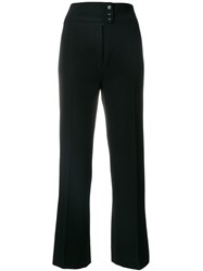 Yves Saint Laurent Vintage High Waisted Tailored Trousers Black