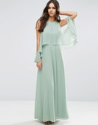 Asos Extreme Cold Shoulder Maxi Dress Soft Mint Green