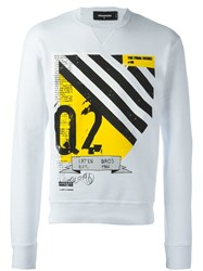 Dsquared2 'Dean' Fit Sweatshirt White