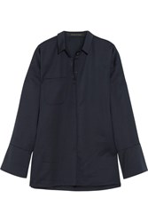Mother Of Pearl Chester Embellished Jersey Shirt Navy