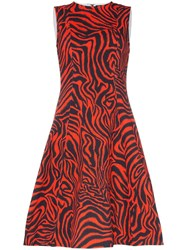 Calvin Klein 205W39nyc Sleeveless Printed Midi Dress Red
