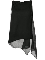 Lost And Found Rooms Draped Tank Top Black