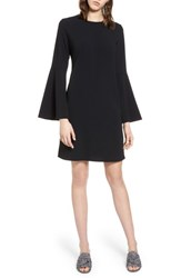 Halogen Bow Back Flare Sleeve Dress Black