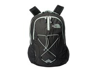 The North Face Women's Jester Asphalt Grey Heather Subtle Green Day Pack Bags Black