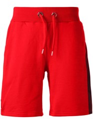 Philipp Plein Evening Jogging Shorts Red