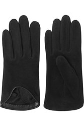 Rag And Bone Oto Leather Tried Suede Gloves Black