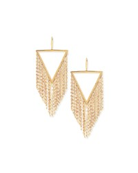 Lana 14K Gold Triangle Fringe Earrings