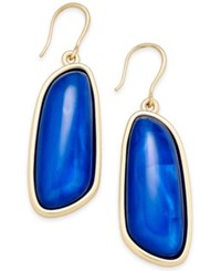 Charter Club Gold Tone Colored Shell Drop Earrings Only At Macy's Blue