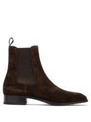 Christian Louboutin Samson Orlato Suede Chelsea Boots Brown