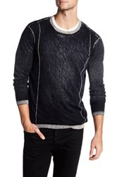 Autumn Cashmere Inked Contrast Crew Neck Shirt Black
