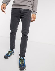 Weekday Sunday Tapered Jeans In Night Black