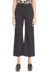Marc By Marc Jacobs Gabardine Flare Crop Pants Black