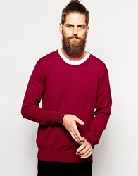 Scotch And Soda Jumper With Crew Neck Purple