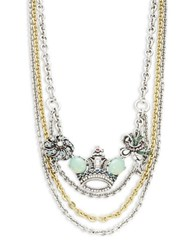 Gerard Yosca Crown Statement Necklace Gold