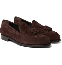 Paul Smith Simmons Suede Tasselled Loafers Brown
