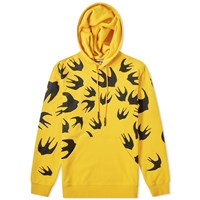Mcq By Alexander Mcqueen Large Swallow Print Popover Hoody Yellow