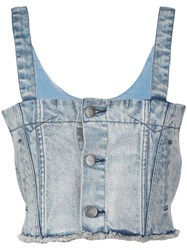 Haculla Denim Crop Top Blue