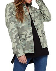 Miss Selfridge Army Camo Jacket Green Multi