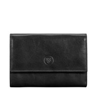 Maxwell Scott Bags Handmade Black Leather S Wallet With Coin Pouch