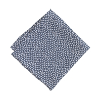 J.Crew Boys' Silk Pocket Square In Mini Floral Manor Blue
