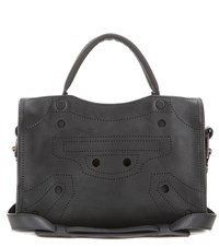 Balenciaga Blackout City Mini Leather Tote