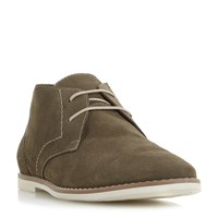Bertie Chives Printed Suede Chukka Boots Khaki