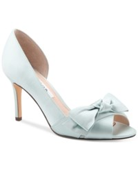 Nina Forbes 2 Bow Peep Toe D'orsay Evening Pumps Women's Shoes Brook Green