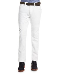 Ermenegildo Zegna Five Pocket Slim Fit Jeans White
