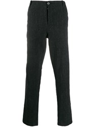Transit Striped Straight Leg Trousers Black