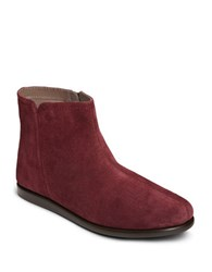 Aerosoles Willingly Side Zip Ankle Boots Wine