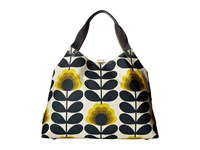 Orla Kiely Summer Flower Stem Large Holdall Sunshine Handbags Yellow